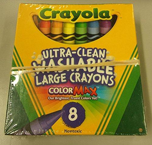 Crayola Washable Crayons Large 8 Colors - 2 Packs