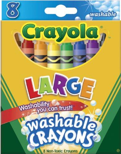 Crayola Washable Crayons Large 8 ColorsBox 52-3280