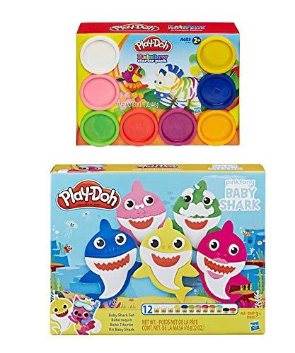 PD Play Doh Baby Shark Play Set  Play Doh Rainbow Starter Pack