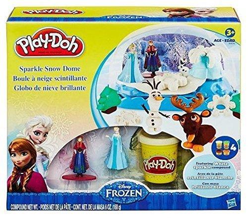 Play-Doh Disney Frozen Sparkle Snow Dome Set with Elsa Anna  Play-Doh Sparkle Compound 12 oz Package