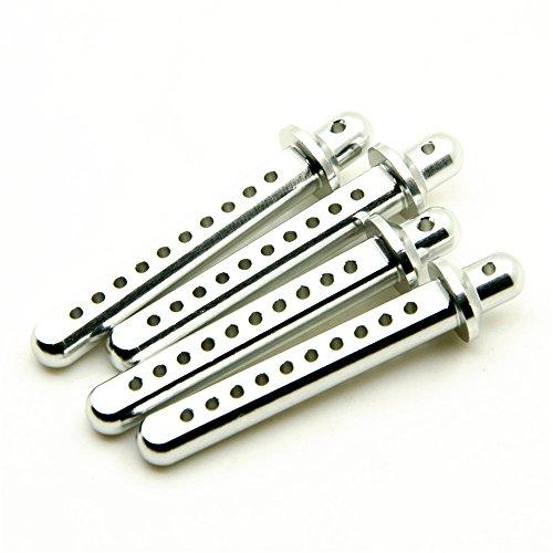 KingModel-CA RC Aluminum Body Post Mounts for AXIAL 4WD 110 SCX10 Upgrade Parts Silver 4Pcs