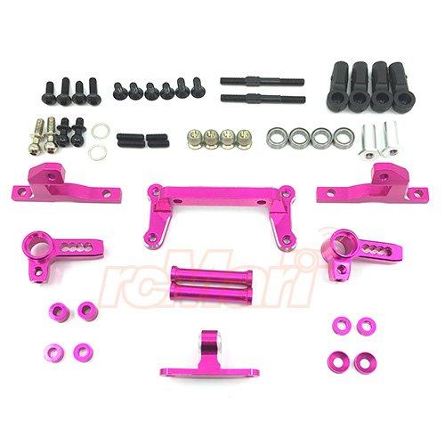 3Racing Sakura D4 RWD Aluminum Front IFS Damper System Pink SAK-D4846PK