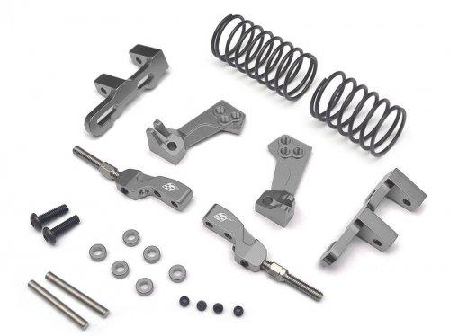 Boom Racing BR921020GM Aluminum Front Upper Adjustable Arms Mono Shock System - 1 Set Gun Metal for 3Racing Sakura D4 AWD