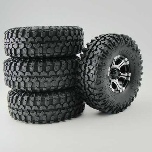 4pcs New RC 110 Alloy 19 Beadlock Rims114mm Crawler Tires