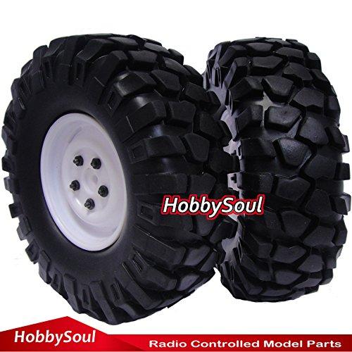 RC 110 19 108mm Crawler Tires Wheels for Axial RC4WD Tamiya cc01 F350 2pcs