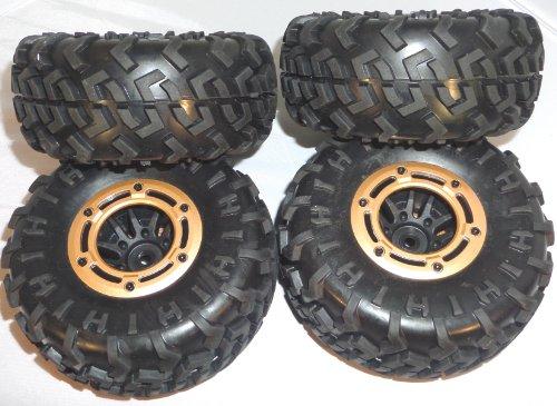 Redcat Rockslide RS10 XT Crawler Tires and Beadlock Rims Set of 4 14mm