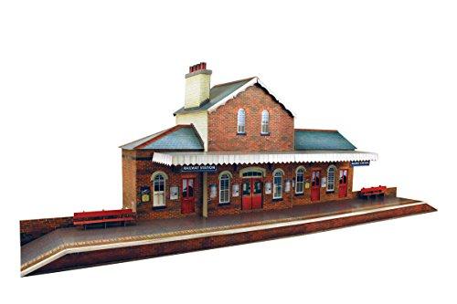 O gauge 7mm 148 scale Model Railroad Building RAILROAD STATION Kit The CityBuilder