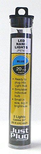 Woodland Scenics Just Plug LED Nano Lights Blue for Scale Model Railroads 5747