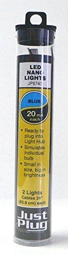 Woodland Scenics Just Plug LED Nano Lights Blue for Scale Model Railroads 5747 by Woodland Scenics