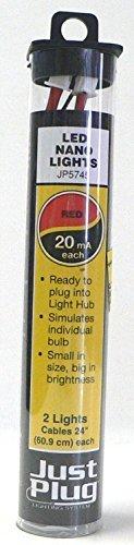 Woodland Scenics Just Plug LED Nano Lights Red for Scale Model Railroads 5745 by Woodland Scenics