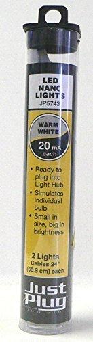 Woodland Scenics Just Plug LED Nano Lights Warm White for Scale Model Railroads 5743 by Woodland Scenics