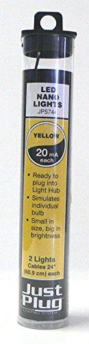 Woodland Scenics Just Plug LED Nano Lights Yellow for Scale Model Railroads 5744