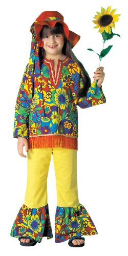 Girls Hippie Girl Costume - Child Medium