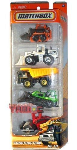 2010-2011 MATCHBOX 5 PACK King J CONSTRUCTION cars trucks 10 Skidster Orange Quarry King White Dump Truck BlackYellow Ground Breaker Green Road Roller Red