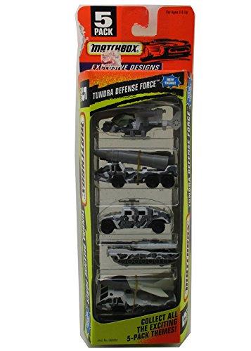 Matchbox 5 Pack Tunddra Defense Force Diecast Car Gift Set