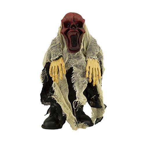 Adorox Walking Talking Light up Screaming Death Demon Skeleton Halloween Terror Decoration Flashing Prop Toy Red