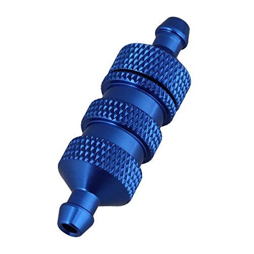 Mxfans 36x11mm Dark Blue Aluminum Fuel Filter Upgrade Parts D10001 for RC18 RC110 Model Car