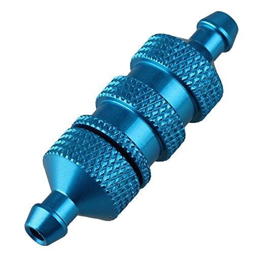 Mxfans D10002 RC 18 110 Blue Aluminum Alloy Fuel Filter L36MM142 DIA11MM043