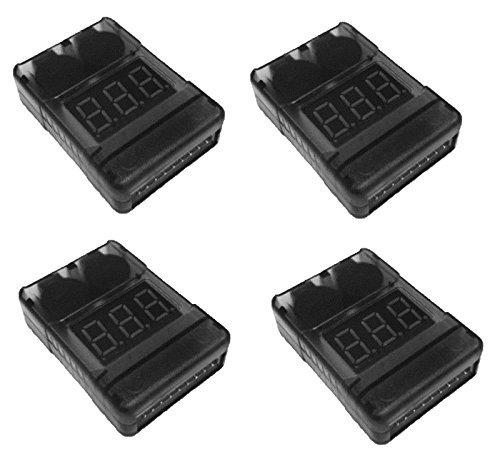 4 x Quantity of DJI Phantom LiPo Battery Low Voltage Alarm Buzzer Tester Checker 1S-8S - FAST FROM Orlando Florida USA by HobbyFlip