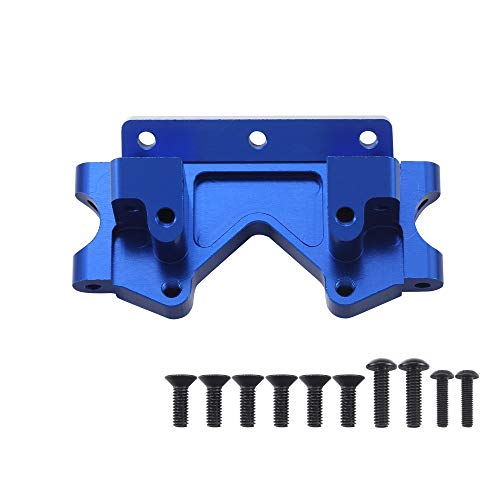 Aluminum Front Bulkhead Upgrade Parts for 110 Traxxas 2WD Slash Stampede Rustler Bandit Replace 2530 Blue-Anodized