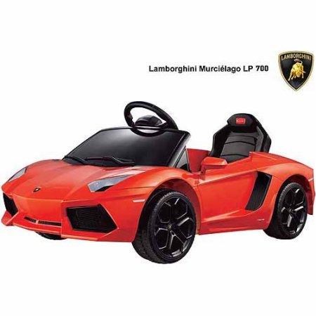 Rastar Lamborghini Aventador LP700-4 6-Volt Battery-Powered Ride-On Included Charger Orange
