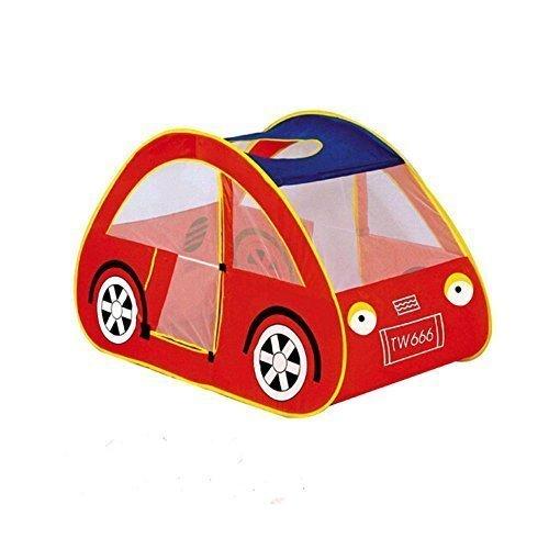 Children Kids Indoor Outdoor Tent Hut Playhouse Car Design Red