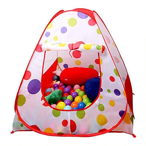 EocuSun Children Kids Play Tent Tents House Pop Up Outdoor Indoor Ball Pit Baby Beach Tent Playhouse w Zipper Storage Case for Boys Girls