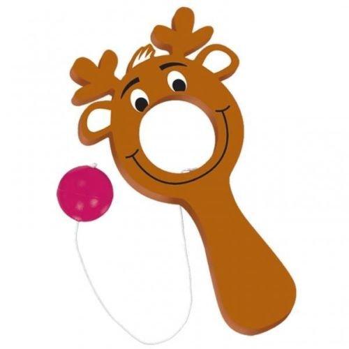 Christmas Reindeer Bulls-Eye Bat Balls Games x 12 - Stocking FillerParty Favours