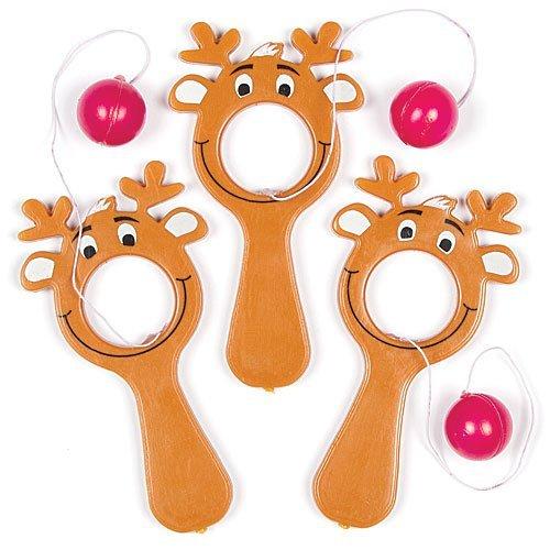 Mini Reindeer Bat Ball Games - Perfect Stocking Stuffer for Children by Baker Ross