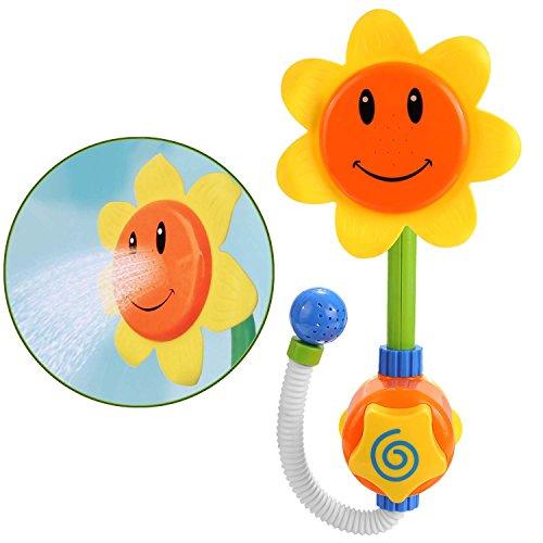 Arshiner Sunflower Baby Bath ToysSunflower Shower Spray Bath Play ToysBathtub Toys Play Sets Early Educational Toys