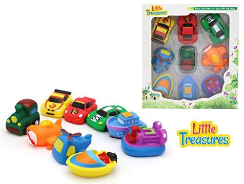 Bathe Time Fun Transport Mania II bath toys for babies 9 pc Bath Toy Set