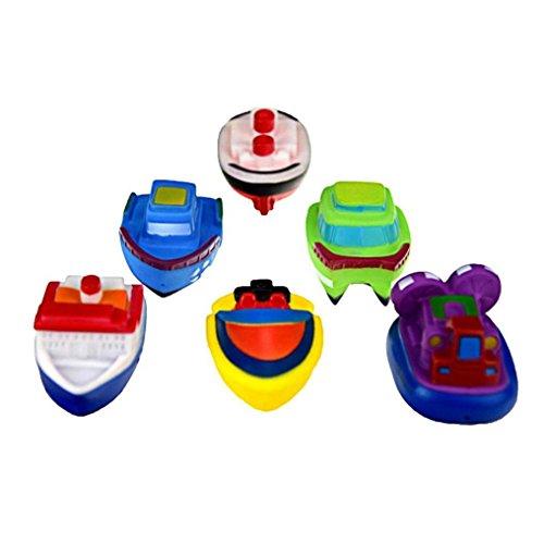 CocoMarket Toys Games Rubber boat With Sound bath toys set 6pcs random color