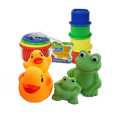 Bath Toys Set for Baby - Sesame Beginnings