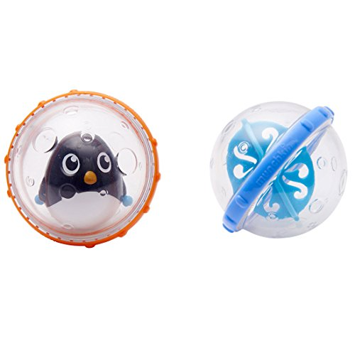 Munchkin Float and Play Bubbles Bath Toy 2 Count - Penguin