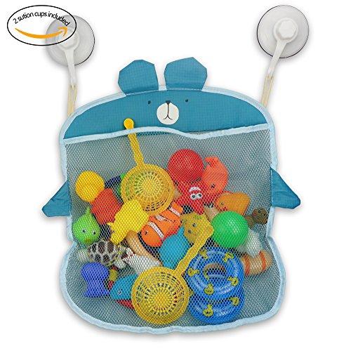 Z-Life Kids Baby Bath Toy Storage Organizer with Power Lock Suction HookBlue