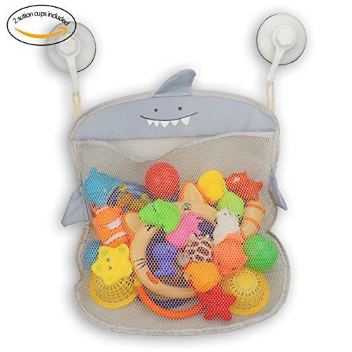 Z-Life Kids Baby Bath Toy Storage Organizer with Power Lock Suction HookGray