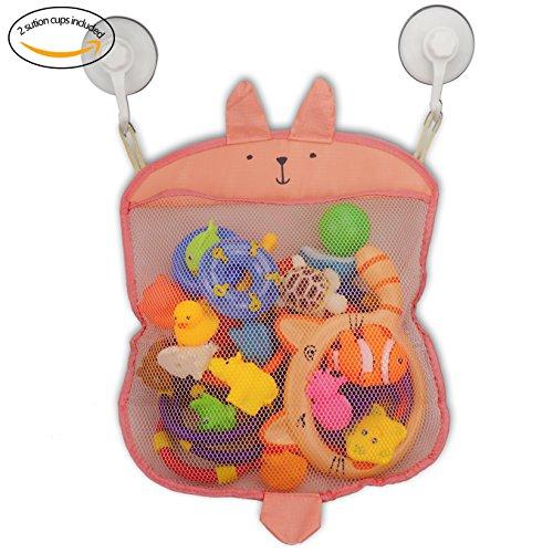 Z-Life Kids Baby Bath Toy Storage Organizer with Power Lock Suction HookPink