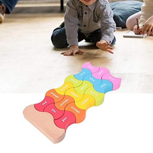 Simlug Building Block Toys for Kids Wooden Block Puzzle Colors Cognition Building Blocks Kids Children Educational Toy