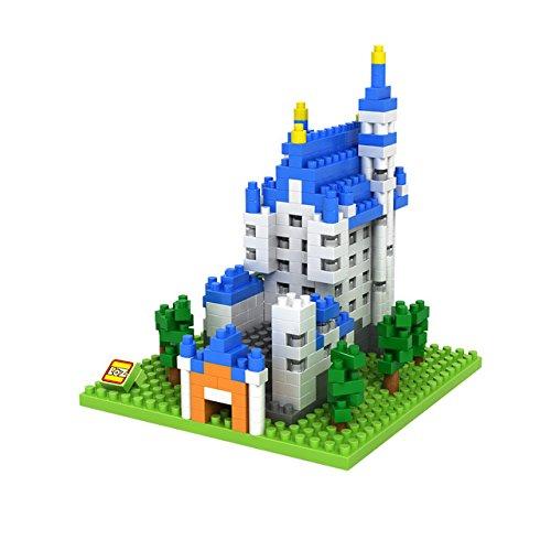 LOZ creative Diamond particles assembled building blocks of the world famous Neuschwanstein Castle in Munich 9380