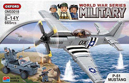OXFORD BRICK BLOCK World War Series Military P-51 MUSTANG OM 33018