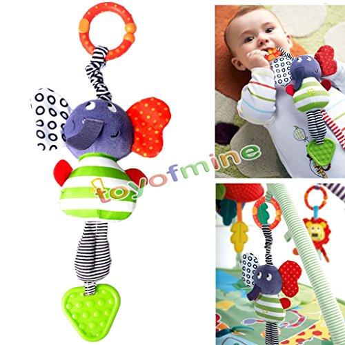 Baby Kids Lovely Elephant Music Hanging Bell Bed Pram Toy Stroller Teether Gift