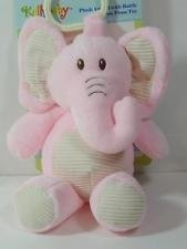 Kellybaby Plush Pink Elephant with Rattle Clip-on Pram Toy