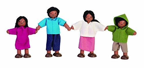 Plan Toys Dollhouse Ethnic Doll Family 1345