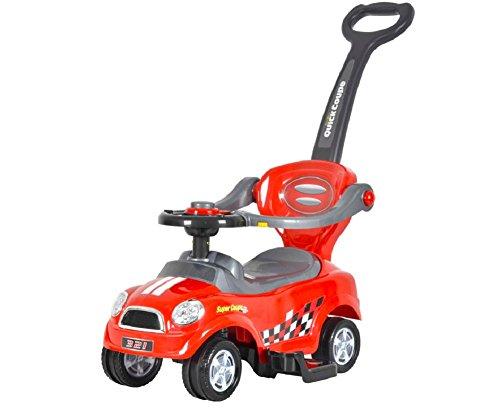 BRC Toys Mini 3 in 1 Push Car Red