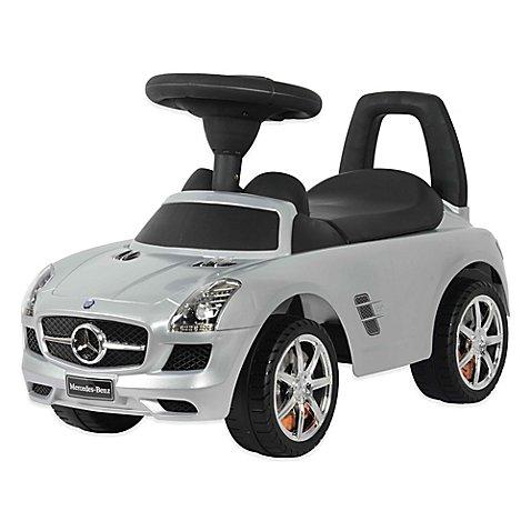 Licensed Mercedes SLS AMG Push Car in Silver