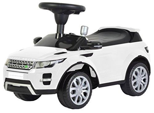 Liscensed LandRange Rover Push Ride on Car for Kids Baby Racer White