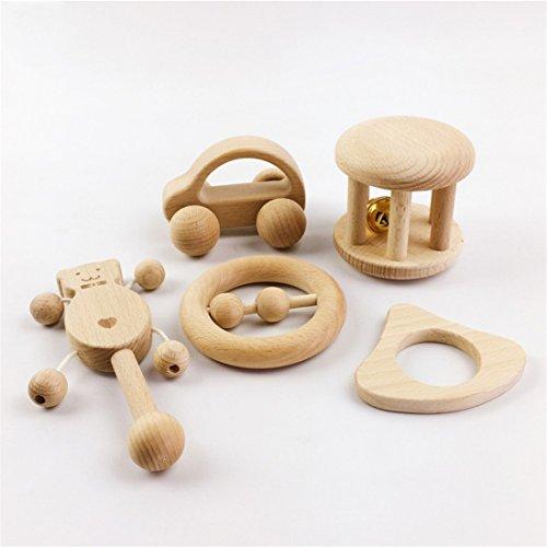 Puzzle Toys Intellectual Development of Children Montessori Toys Set Nursing Wooden Wooden Rattles