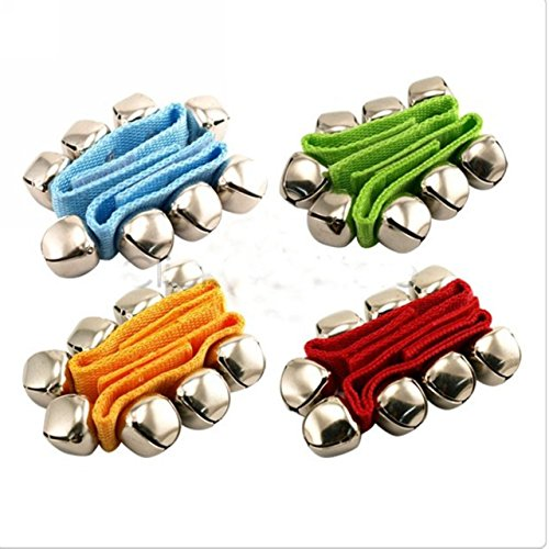 EWINR 2pcs Wrist Foot Bell Instrument Percussion Orchestra Baby Rattles Toy For Children Kids