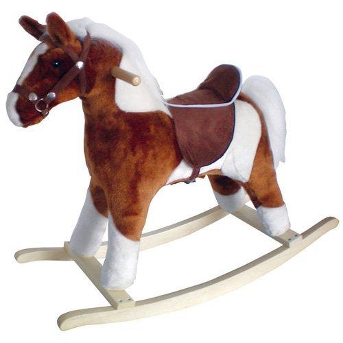 Charm Company Pinto Horse Rocker Brown Saddle Brown Saddle by Charm Company