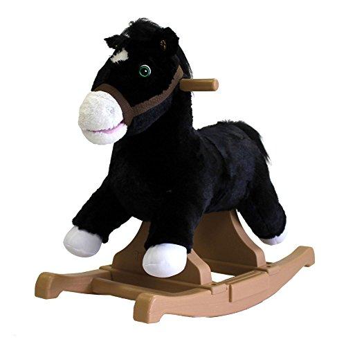 Rockin Rider Black Rocking Pony Ride-On
